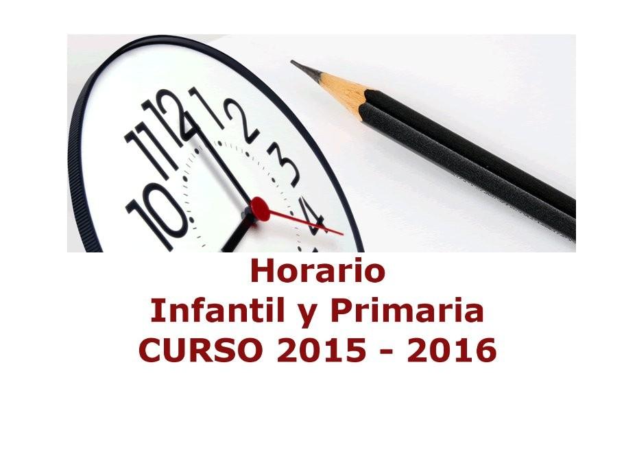 Horario Infantil y Primaria Curso 2015-16