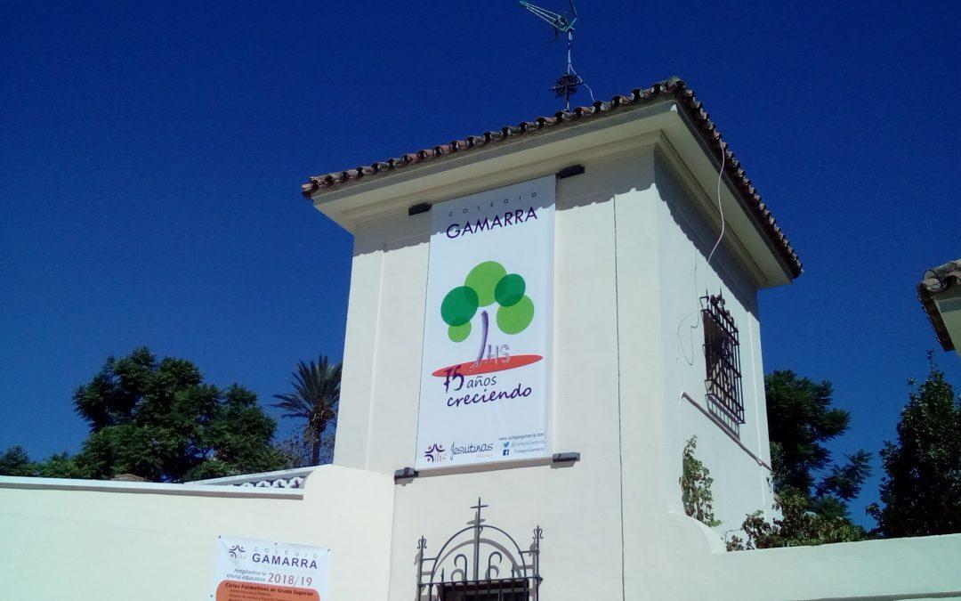 Compartiendo la alegría del colegio de Gamarra (Málaga)