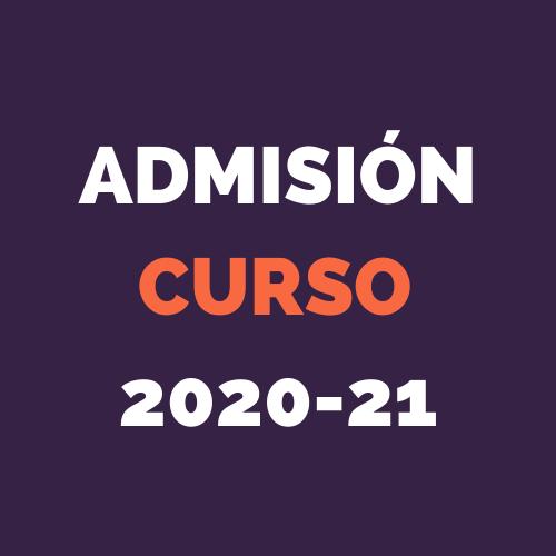 ADMISIONES CURSO 2020-21